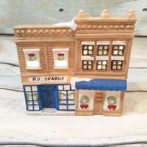 Vintage Colonial Victorian Christmas Village Shop